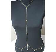 Fashion Alloy Sexy Sequins Crystal Body Chain