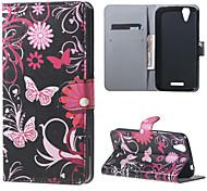 Schmetterlingsblumen Mappen-Lederstandplatzfall für Acer Liquid Z630 z630s (5,5 inch)