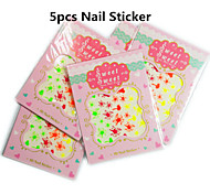 5pcs/set Fluorescence Nail Art Sticker