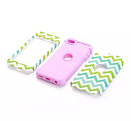 Wave Pattern Pattern High Quality Snap-on PC + Silicone Hybrid Combo Armor Case Cover for iPod touch 6(Assorted Color)