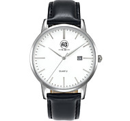 AIBI® Men's Fashion Watch Calendar Water Resistant Fabio Miami Silver Black Wrist Watch Gift For Men Cool Dress Watch Unique Watch With Watch Box