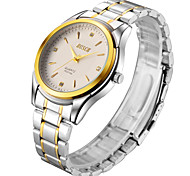 Men's Watch Gold Stainless Steel With Gift Waterproof Quartz Watch