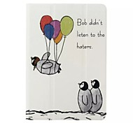Three Little Penguins Pattern PU Leather Case with Stand and Card Holder for iPad Mini 4