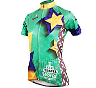 ilpaladinoSport Women Short Sleeve Cycling Jersey New Style Distinctive  DX587 Star Travel 100% Polyester