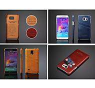 Für Samsung Galaxy Note Kreditkartenfächer Hülle Rückseitenabdeckung Hülle Einheitliche Farbe PU - Leder Samsung Note 5 / Note 4
