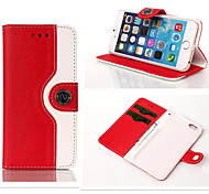 Wallet Dual Color Leather Pouch Credit Card Stand Mouse Lines Holster Purse Case For iPhone5/5S