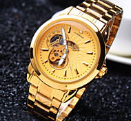 Men's High-end Business Round Dial Mineral Glass Mirror Stainless Steel Band Fashion Mechanical Waterproof Watch