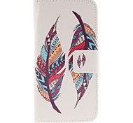Color Feathers Pattern PU Leather Full Body Cover with Stand for Samsung Galaxy J2/Galaxy J3
