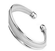 Wire Mesh Fashion Silver Adjustable Opening Bangles