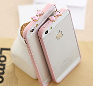 Solid Color 3D Bowknot Frame Cover Case for iPhone 5/5S