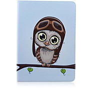 Small Owl Painted Bracket Tablet PU Case for Galaxy Tab S 10.5 T800/  E 9.6 T560/ A 9.7 T550/ 4 10.1 T530/S2 9.7