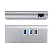USB 3.0 Hub 3 Port with RJ45 Gigabit Ethernet LAN Network Adapter for iMac MacBook Pro Air Mini Desktop