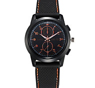 Men's Fashion Sport Silicone Band Quartz Watch