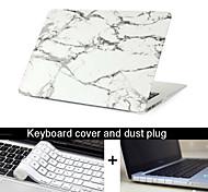 """nieuwe 3 in 1 marmeren textuur geval dekking + toetsenbord cover + stof plug voor MacBook Pro 13.3 """"/15.4"""""""