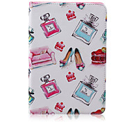 Perfume Bottle Pattern PU Leather Full Body Case With Stand for iPad Mini 3/2/1