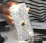 padrão astronauta luz do flash sentido lcd caso capa Voltar para o iPhone 5 / 5s