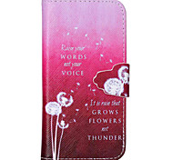 Pink Dandelion Pattern PU Leather Full Body Cover with Stand for iPhone 6/iPhone 6S