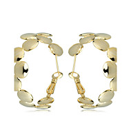 European Style Fashion  Wave Point Joint Gold Plating Loop Earrings