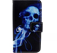 Blue Skull Painted PU Phone Case for Huawei P8 Lite