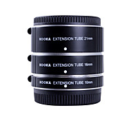 tubos de extensión af aluminio Kooka: ft47a kk establecen para olympus panasonic sistema micro 4/3 (10mm, 16mm, 21mm) cámaras