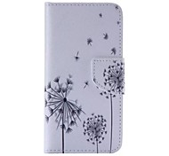 Dandelion Pattern Cell Phone Leather For iPhone 6/6S