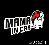 mamá divertida en etiqueta engomada del coche del coche ventana del coche estilo pared coche calcomanía