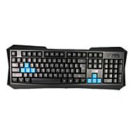 Ezapor KB018 Waterproof USB Wired Gaming Keyboard-Black