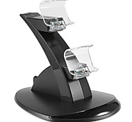 Dual USB With Blue LED Charging Dock Station Stand for PS4 Controller (Black)
