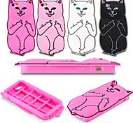 Luxury Fashion 3D Cute Cartoon Funny Pocket Cat Soft Silicone Back Case for iPhone 6/6S(Assorted Colors)