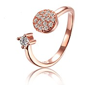 2015 Fashion Cubic Zirconia Rose Gold Plated Ring Band Rings Wedding Daily for woman&lady