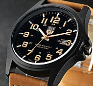 Fashion Leisure Men's Watch Calendar Leather Band(Assorted Colors)