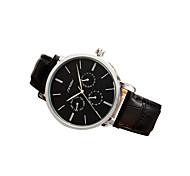 SINOBI® Fashion Gentlemen Leather Wristwatch Black Quartz Watch 11S9536G01 Fashion Watch Cool Watch