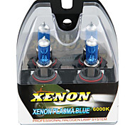 2 9006 HB4 White 6000K Halogen High Low Beam Xenon Headlight Lamp Light Bulbs