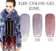 1PCS ANA Fur Color Gel 12Colors Long Lasting Nail Polish 7-9