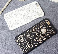 Para Funda iPhone 5 En Relieve Funda Cubierta Trasera Funda Flor Dura Policarbonato iPhone SE/5s/5