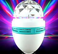 6W E26/E27 Luces LED de Escenario Rotatoria 3 LED Integrado 600 lm RGB Decorativa AC 85-265 V 1 pieza