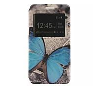 o novo padrão de cartão de aleta borboleta pu material de couro caso de telefone janela para Samsung Galaxy J1 / j1ace / j2 / J5
