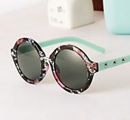 Sunglasses Women's Retro/Vintage / Modern / Fashion Round Black / White / Nude / Multi-Color / Leopard Sunglasses Full-Rim