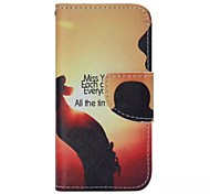Setting Sun Painted PU Phone Case for iphone5/5S