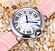 WEIQIN Date Rome Style Silver Case Genuine Leather Straps Watches Women Water Resistant Lady Fashion Casual Watch Clock