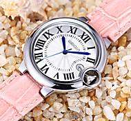 data Weiqin roma estilo Caso de prata genuína tiras de couro relógios mulheres água moda senhora resistente relógio ocasional relógio