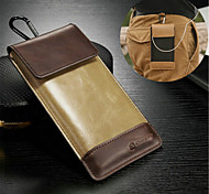 Universal Genuine Leather Metal Key Chain Case for  Samsung Galaxy S2/S3/S4/S5/S6/S6 Edge/S6 Edge Plus