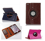 Fashion boutique PU Leather 360⁰ Cases Auto Sleep/Wake Up Card holder Cases For iPad Air 2(Assorted Color)