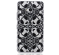 Mandala Pattern Transparent TPU Soft Case for Nokia 640