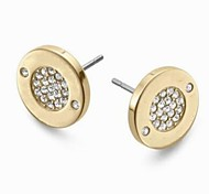 Classic Round High Polished Set Drill Stud Earrings