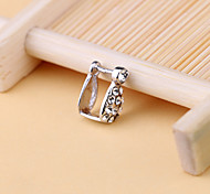 925 Sterling Silver Earring Accessories Silver Pendant Locket Buckle