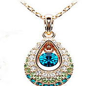 May Polly Fashion crystal diamond drop necklace hollow angel