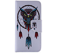 The New Owl PU Leather Material Flip Card Cell Phone Case for iPhone 6 /6S