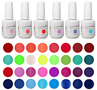 elegir 6 piezas lundle empapa de uv gelpolish uñas 141 de color gel de capa superior base de gel llevó gel de la manicura