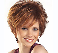 New Arrival Wigs Women lady Short Brown Color Synthetic Hair Wigs